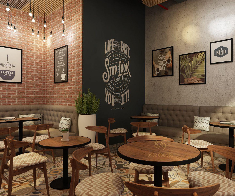 Ý tưởng nội thất Shop House Coffe VinHome