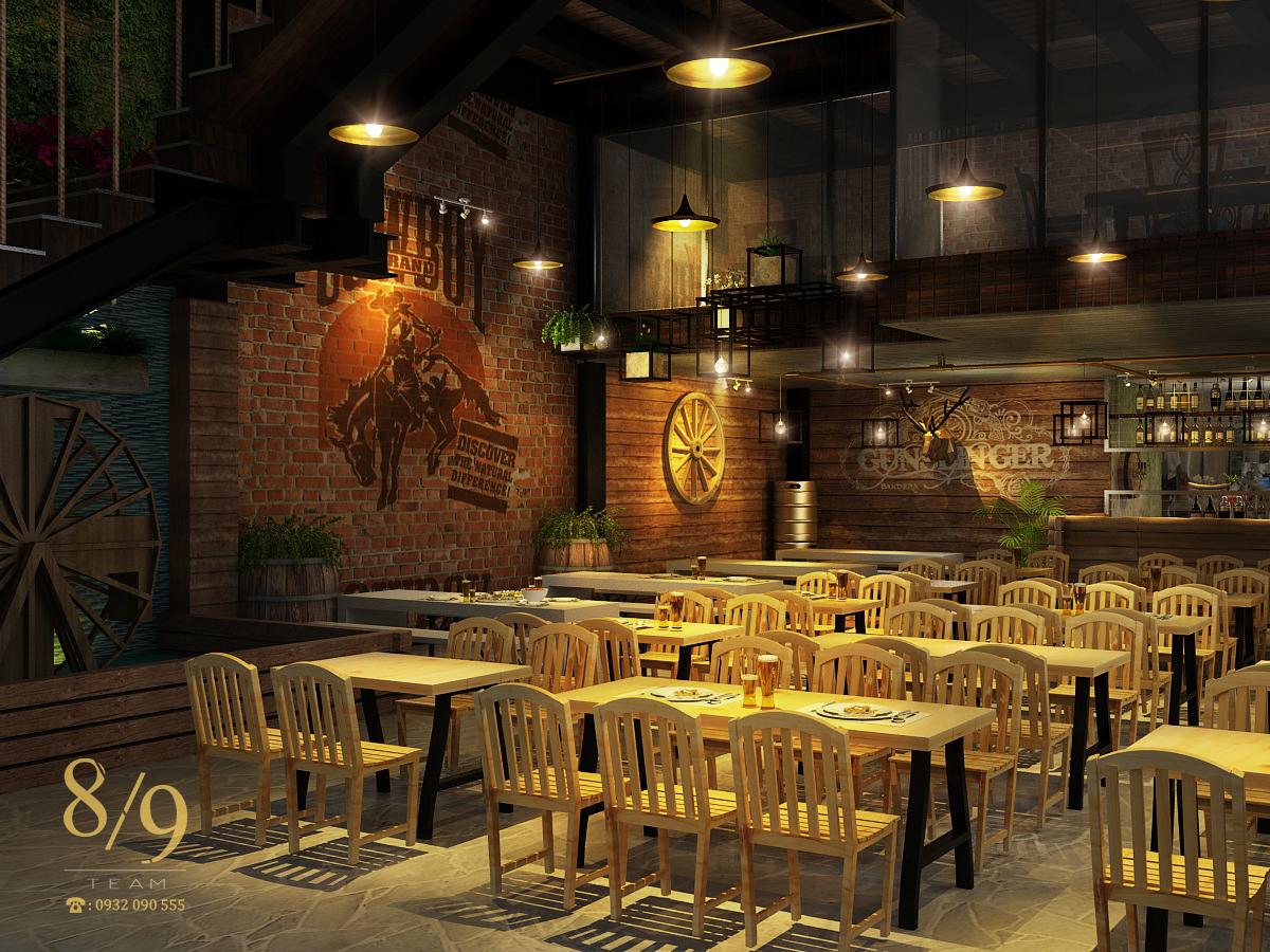 Thiết Kế Nội Thất Nhà Hàng món nướng Hùng Vương, ý tưởng độc đáo cho người kinh doanh